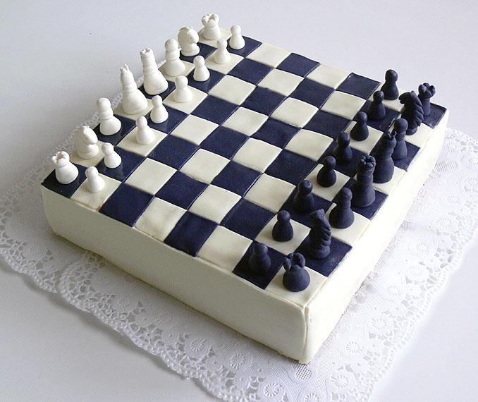 Výsledek obrázku pro šachový dort